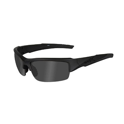 Wiley X Valor Black Ops Sunglasses, Polarized Smoke Grey Lenses, Matte Black Frame