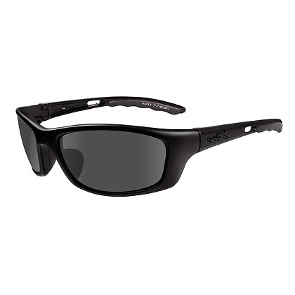 Wiley X P-17 Black Ops Sunglasses, Smoke Grey Lens, Matte Black Frame