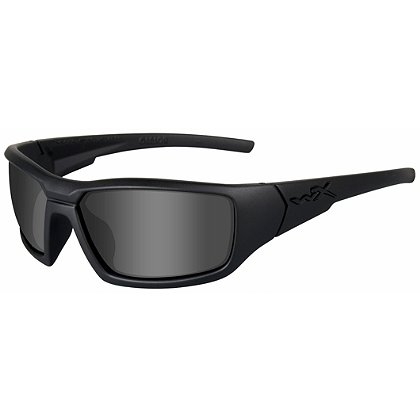 Wiley X Censor  Black Ops Sunglasses, Polarized Smoke Grey Lens, Matte Black Frame