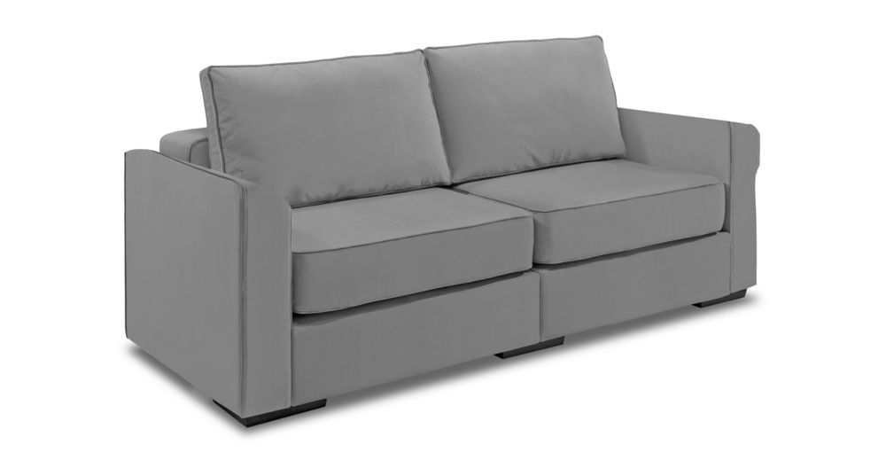 Sofa / Loveseat With Navy Twill Covers