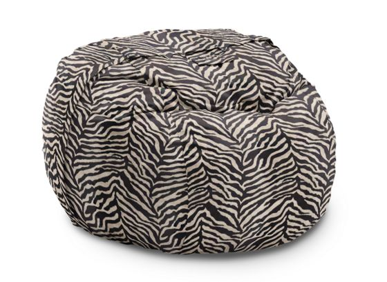 Supersac With Black Zebra Micro Velvet Cover