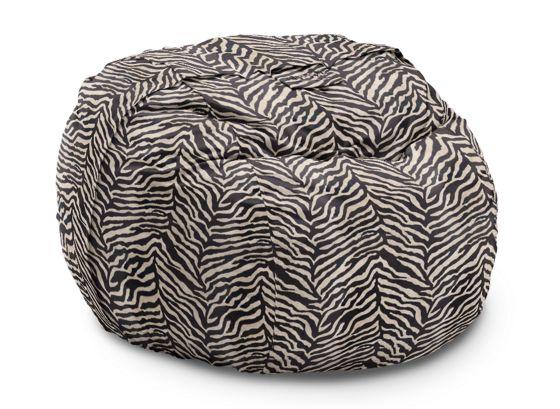 The BigOne With Black Zebra Micro Velvet Cover