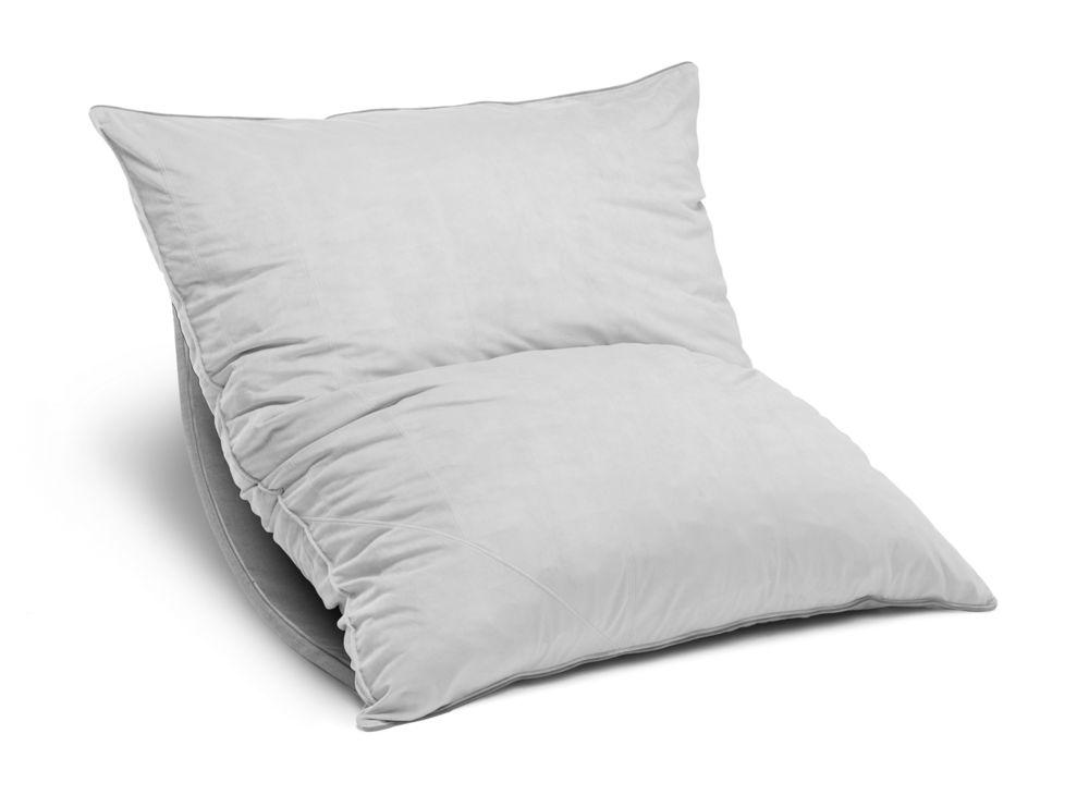 pillowsac with saffron polylinen cover