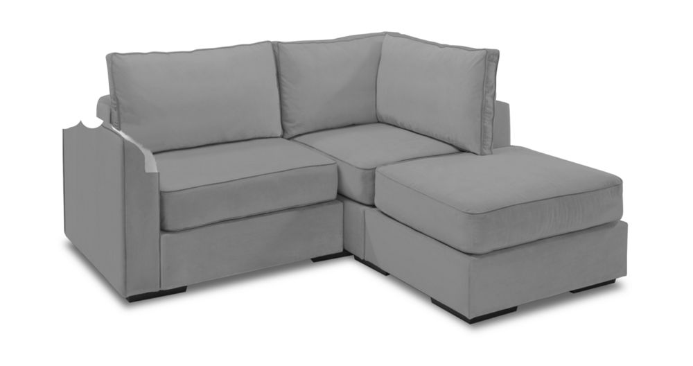 Small Chaise Sectional with Taupe Padded Velvet Covers  sc 1 st  Lovesac : small chaise lounge sofa - Sectionals, Sofas & Couches