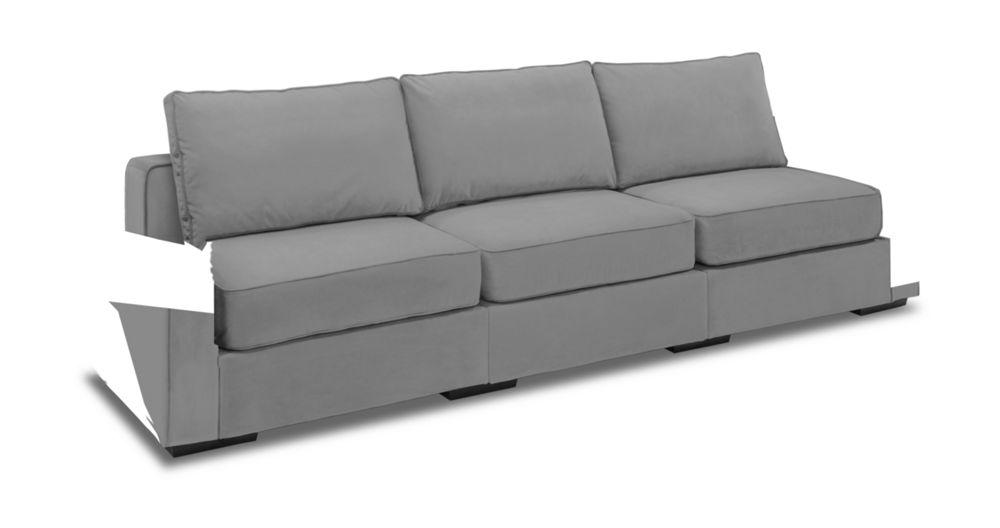 Wonderful Long Sofa With Paprika Tonal Stripe Velvet Covers
