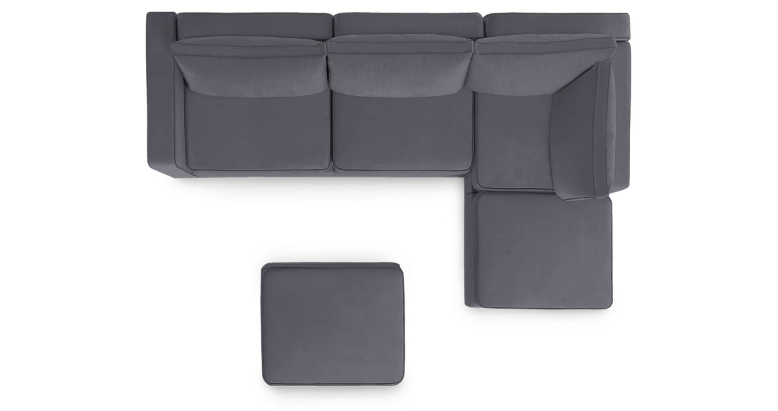 chaise sectional couch with ottoman lovesac