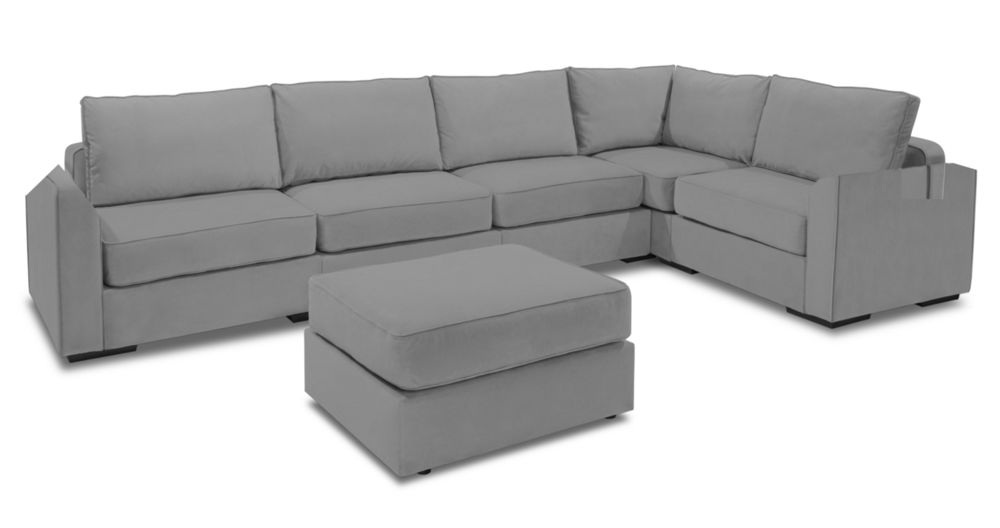 Large Chaise Sectional Sofa with Ottoman Lovesac
