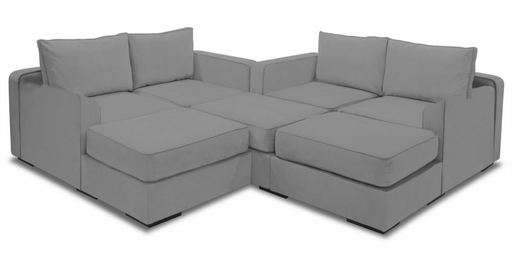 Superior Large Modular Sectional Couch | 7 Seats + 8 Sides | Lovesac