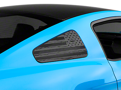 Mustang Quarter Window Covers & Decals 2010-2014