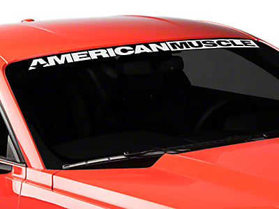 Mustang Window Banners & Decals