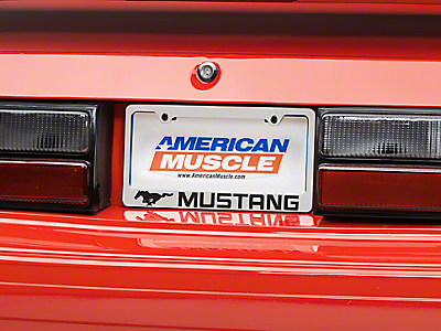 Mustang License Plates & Plate Frames 1979-1993