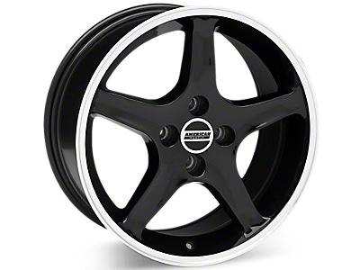 Black 1995 Cobra R Wheels<br />('79-'93 Mustang)