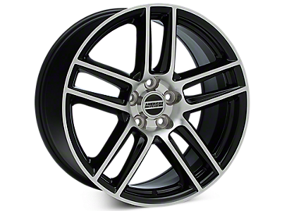 Black Machined Boss Laguna Seca Style Wheels<br />('05-'09 Mustang)