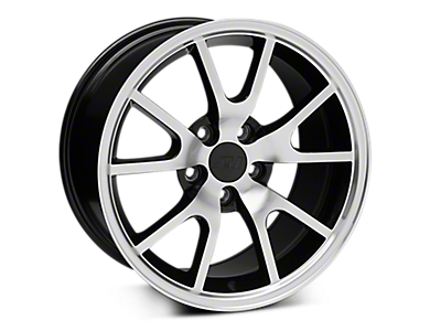 Black Machined FR500 Wheels<br />('05-'09 Mustang)