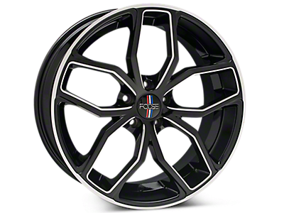 Black Machined Foose Outcast Wheels<br />('15-'19 Mustang)