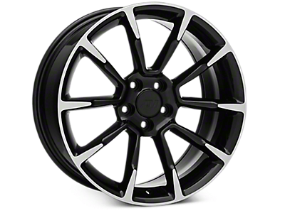 Black Machined GT/CS Style Wheels<br />('05-'09 Mustang)