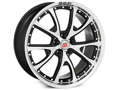Black Machined Shelby CS40 Wheels<br />('15-'19 Mustang)