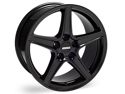 Black Saleen Style Wheels<br />('05-'09 Mustang)