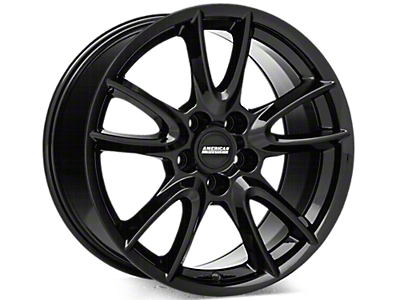 Gloss Black Track Pack Style Wheels<br />('05-'09 Mustang)