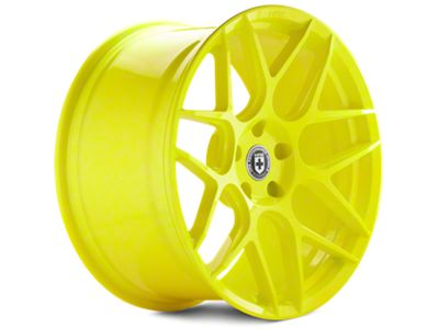 Hyper Yellow HRE Flowform FF01 Wheels<br />('05-'09 Mustang)