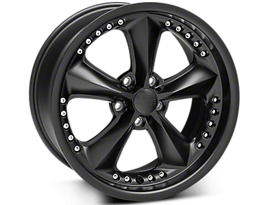 Matte Black Foose Nitrous Wheels<br />('99-'04 Mustang)