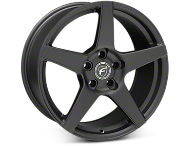Matte Black Forgestar CF5 Wheels<br />('15-'17 Mustang)