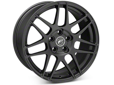 Matte Black Forgestar F14 Wheels<br />('15-'18 Mustang)