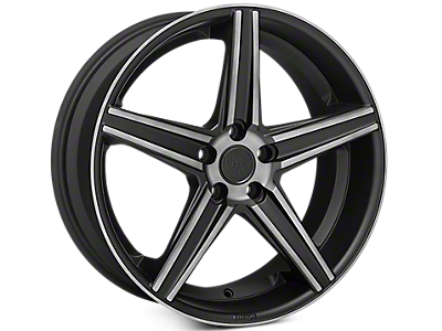 Matte Black Niche Apex Wheels<br />('05-'09 Mustang)