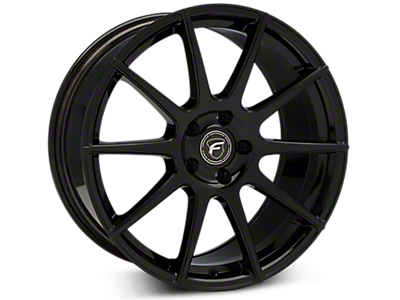 Piano Black Forgestar CF10 Wheels<br />('15-'19 Mustang)