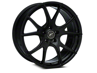 Piano Black Forgestar CF5V Monoblock Wheels<br />('10-'14 Mustang)