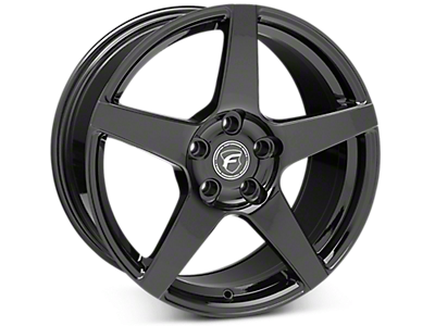 Piano Black Forgestar CF5 Wheels<br />('05-'09 Mustang)