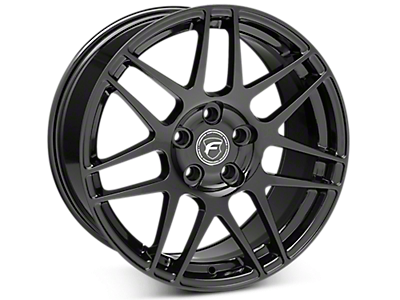 Piano Black Forgestar F14 Wheels<br />('15-'19 Mustang)