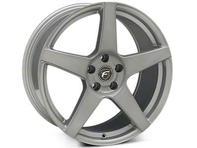 Silver Forgestar CF5 Wheels<br />('10-'14 Mustang)