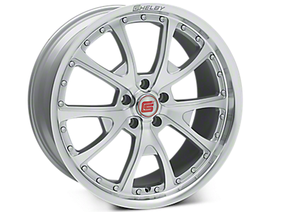 Silver Machined Shelby CS40 Wheels<br />('15-'19 Mustang)