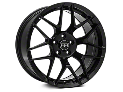 Black RTR Tech 7 Wheels<br />('10-'14 Mustang)