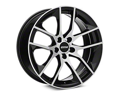 Black Machined Magnetic Style Wheels<br />('15-'19 Mustang)