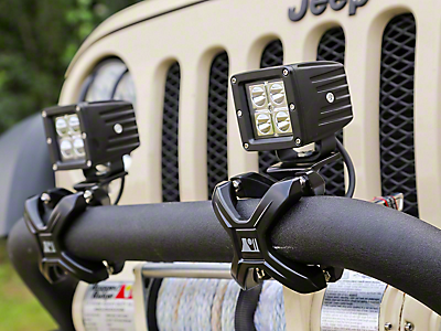 Bumper Light Mounts<br />('07-'18 Wrangler)